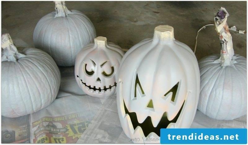 Pumpkin paint painted pumpkins