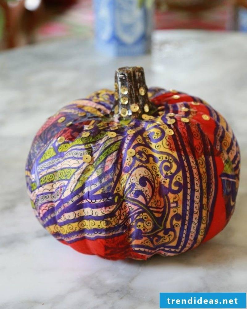 Pumpkin painted pattern pumpkin craft