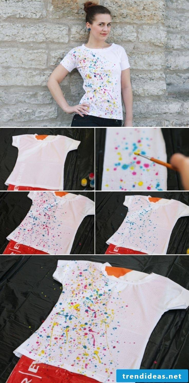Paint T shirt with textile dye