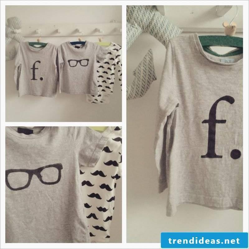 Tshirt self-print with modern design