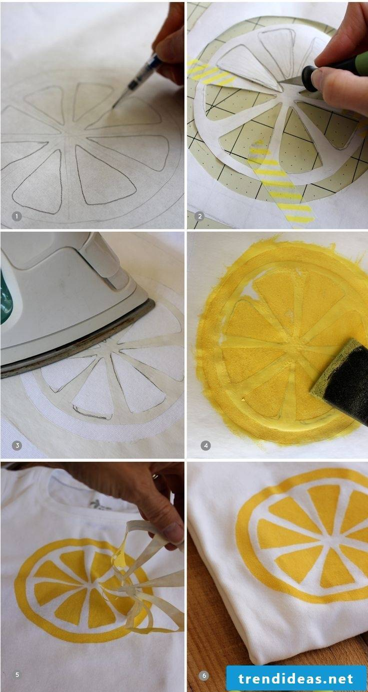 T-shirt self-painted ironing shirt