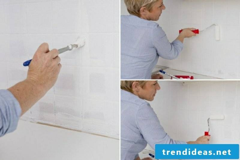 Wall tiles kitchen paint in white