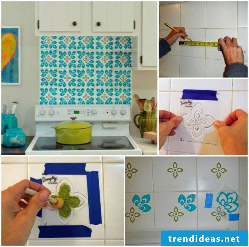 Wall tiles kitchen painting make great patterns