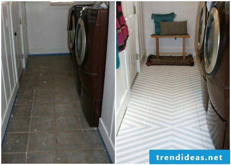 Floor tiles bath paint geometric pattern