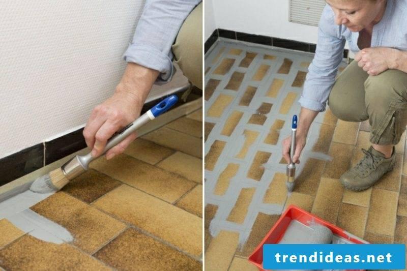 Floor tiles bathroom paint DIY
