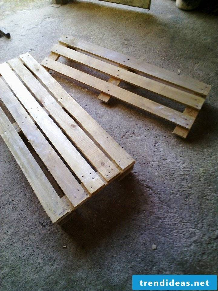 pallet furniture bank of pallets build your own step 4