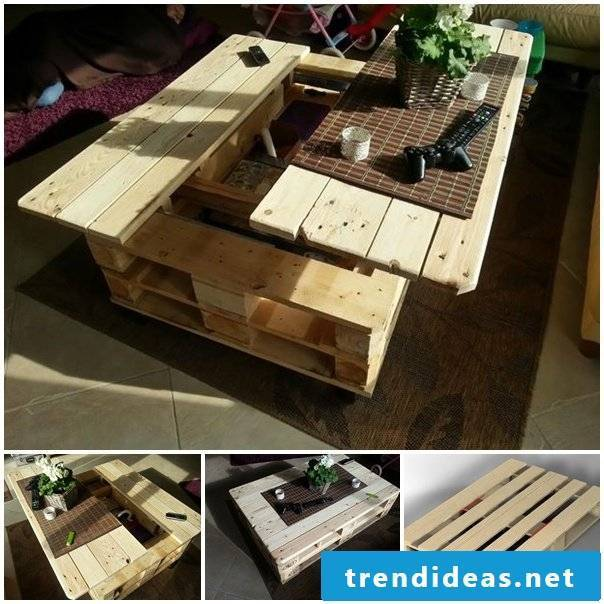 make a table yourself from pallets craft ideas pallet furniture furniture from pallets