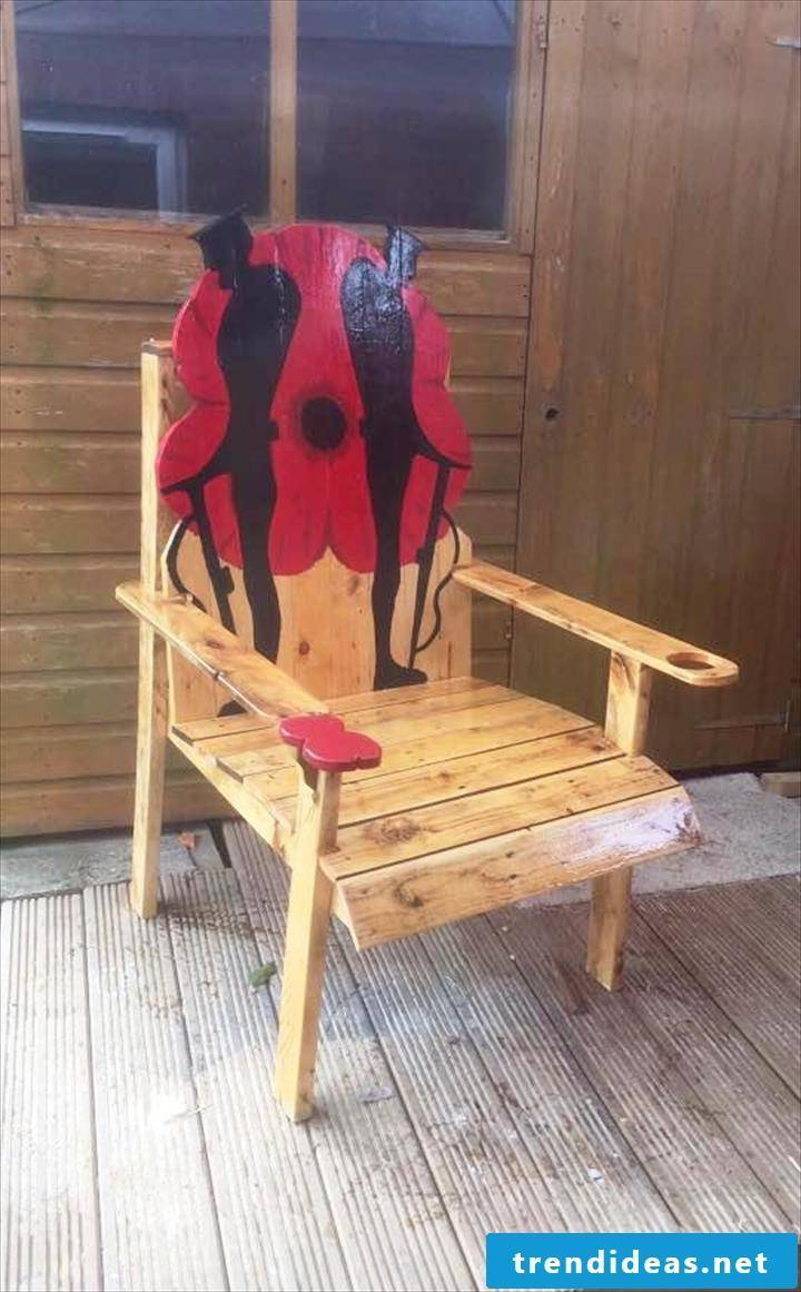 chair made of palette pallet furniture
