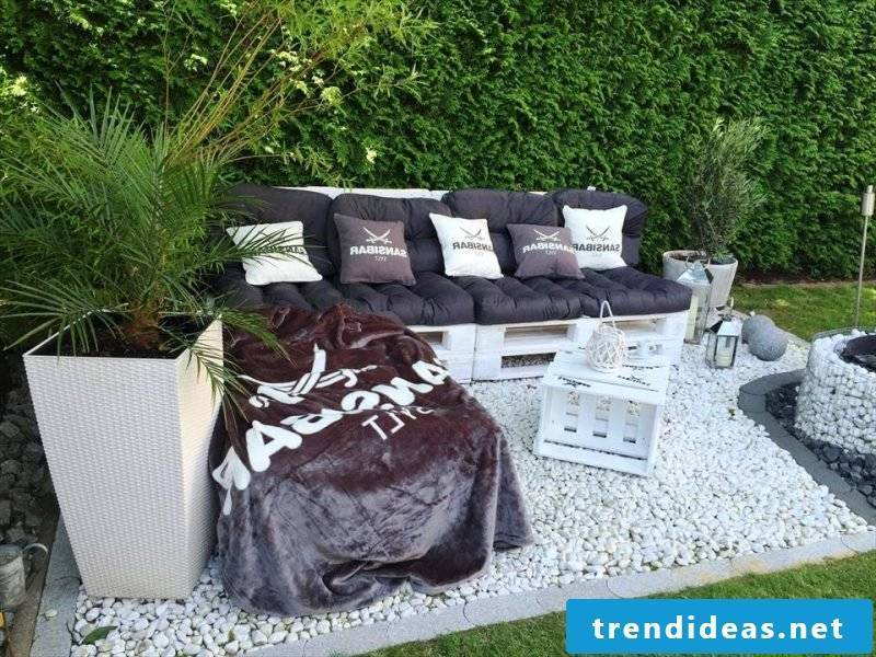 stylish pallet furniture white table from pallets garden furniture from pallets