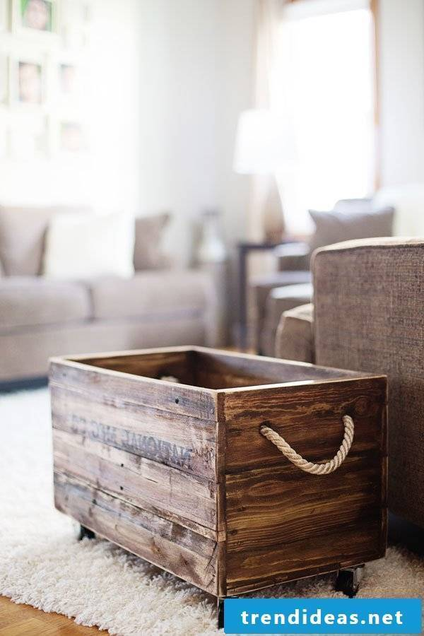 pallet box pallet furniture build yourself