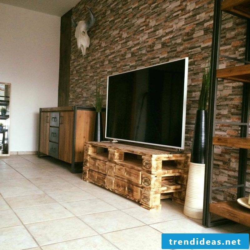 pallet furniture build your own tv table hi fi device furniture from pallets