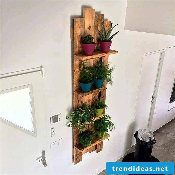 flowers shelf from pallets wall pallet furniture