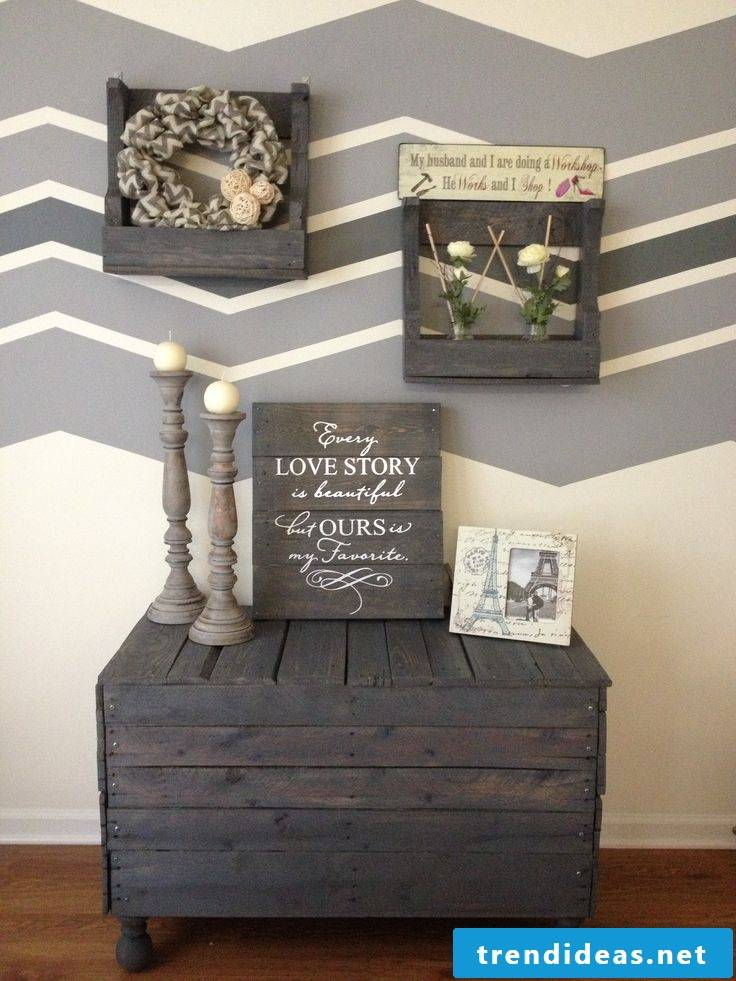table made of palette pallet furniture build yourself dark brown