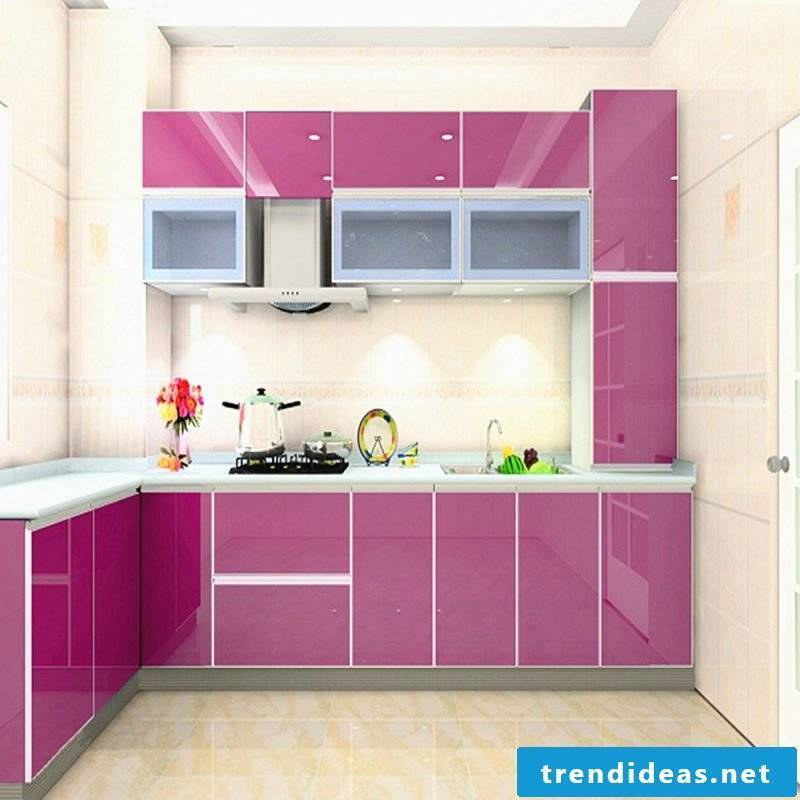 kitchens frieze pink