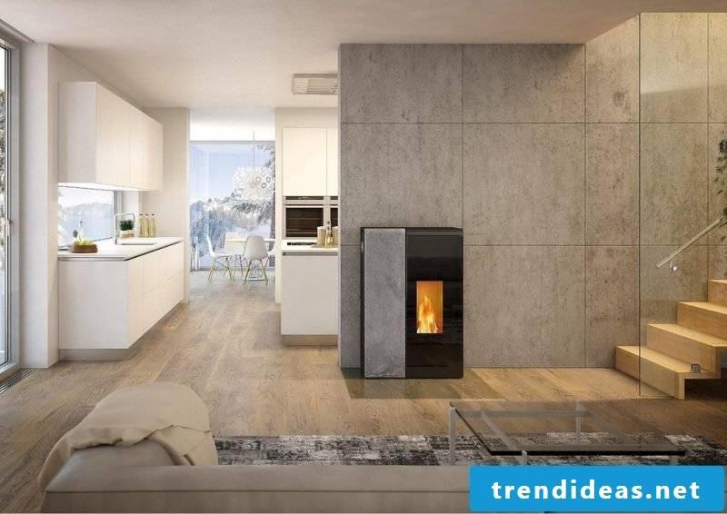 pellet stove-living room