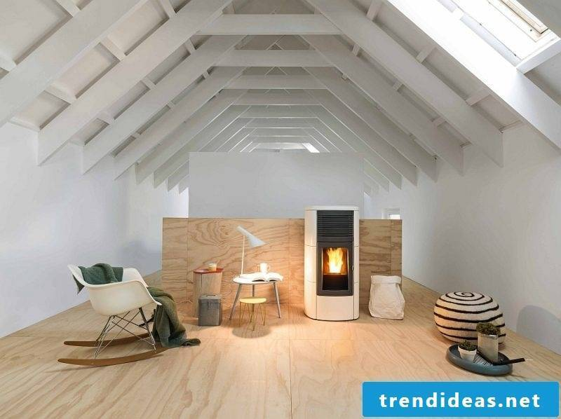 Pellet stove modern design