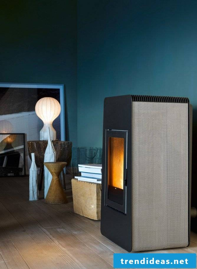 This is how the pellet stove works