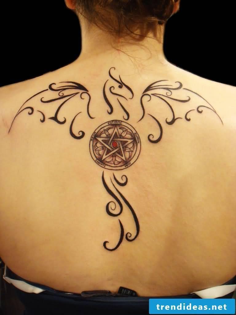 Pentagram tattoo women jerking