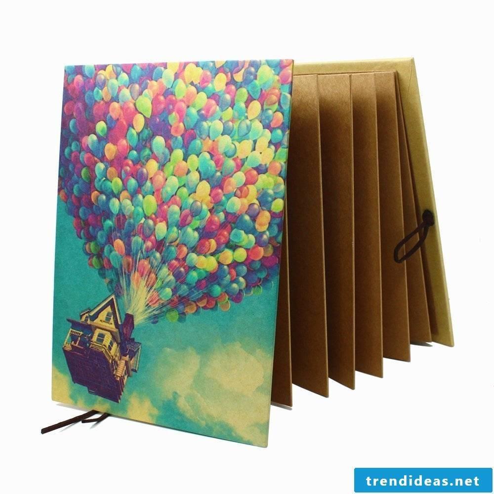 Photo album folded - the perfect gift