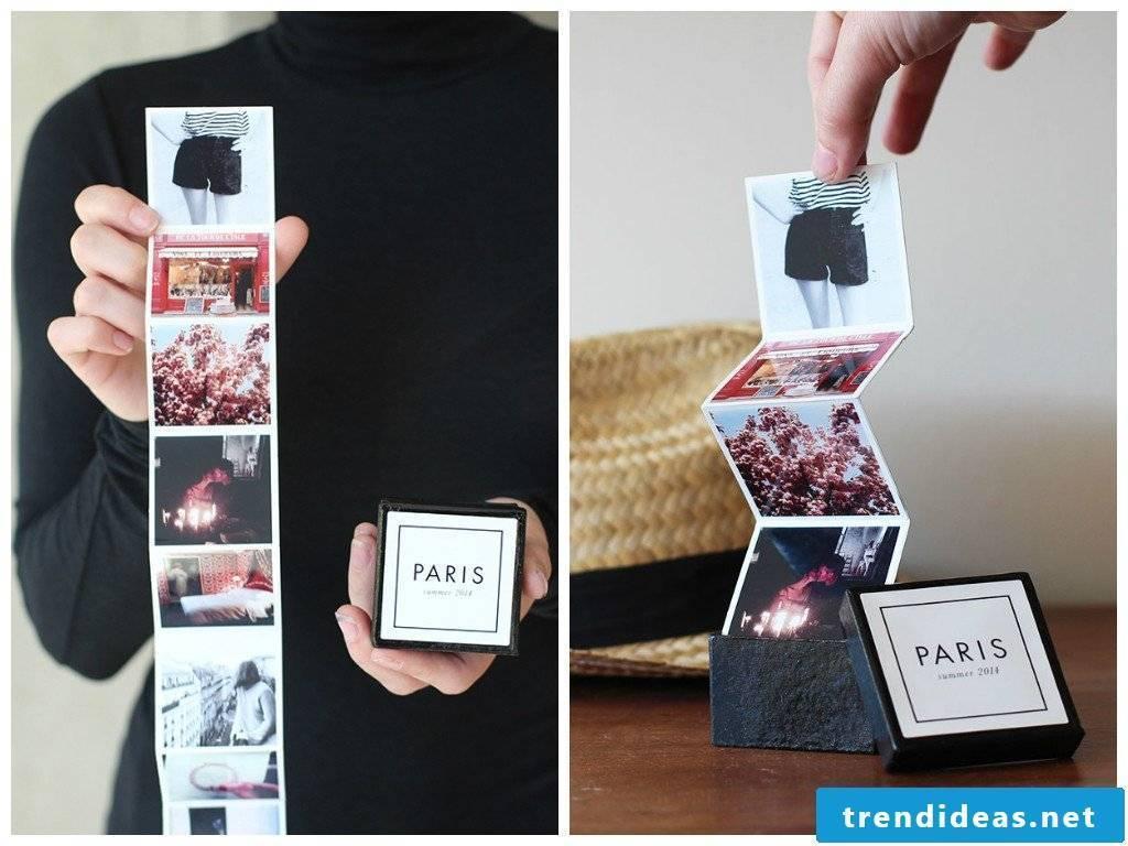 Photo album Paris to fold