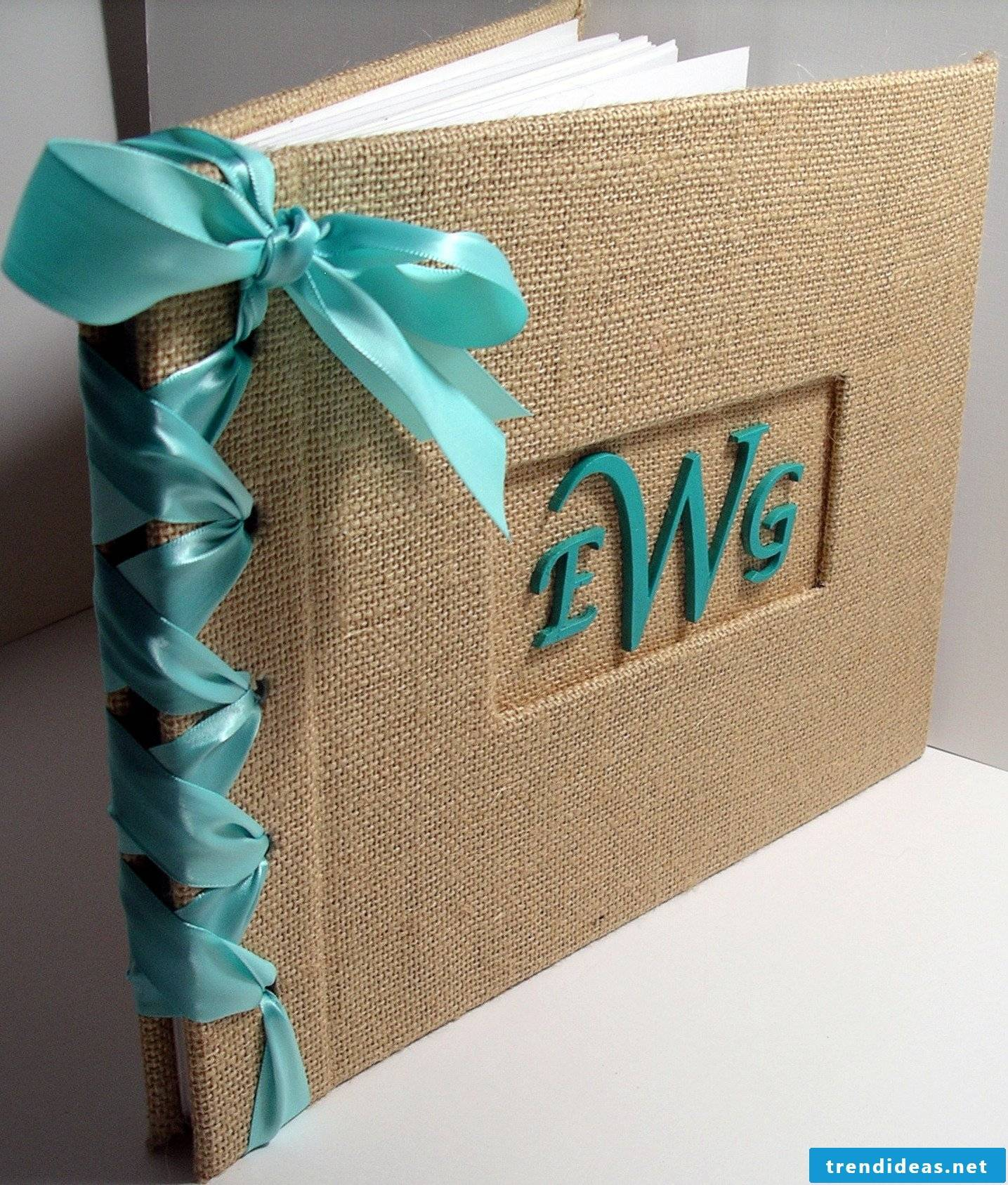 Linen and natural materials for a beautiful photo album