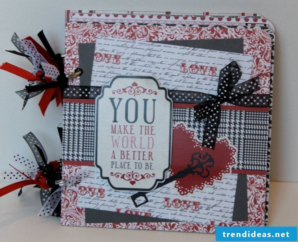 Photo album made with love for a loved one