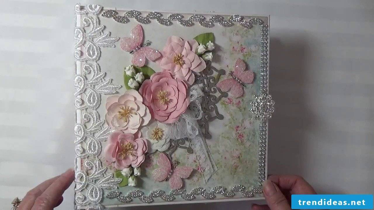 Homemade wedding album