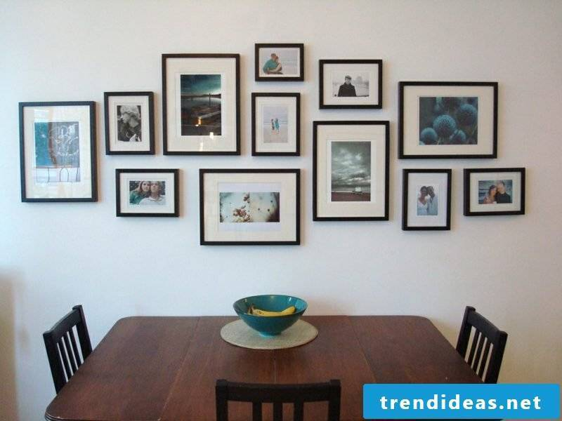 black picture frame photo wall