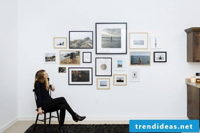 make your own photo wall tips