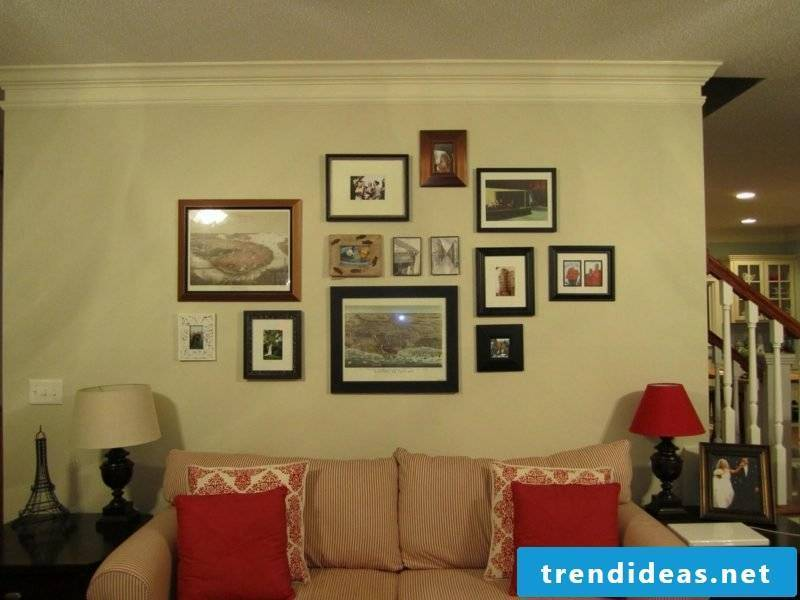 hang photos in the living room