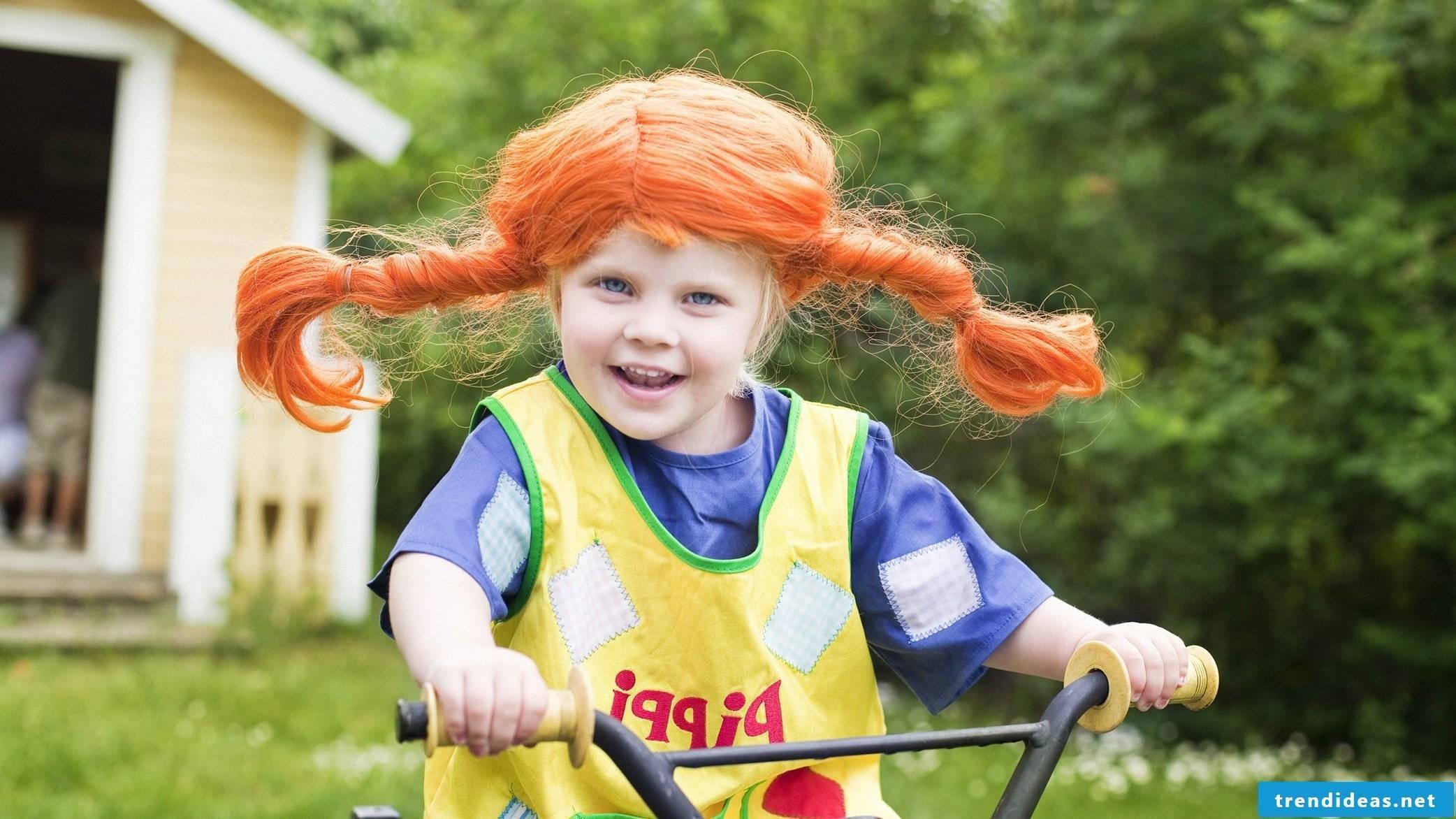 Sew children's apron - Pippi Longstocking Fasching Kindererkostuem