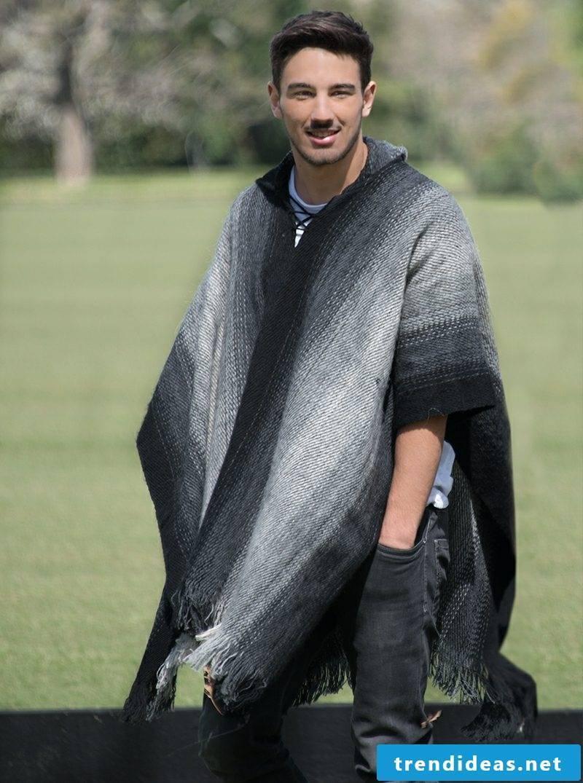 Poncho Men's knitwear DiY