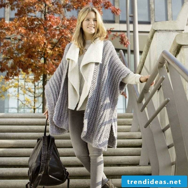 Poncho ladies elegant winter clothes