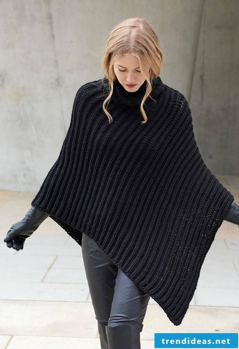 Knit scarf poncho great winter ideas