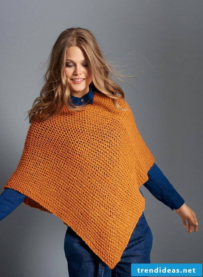 Knit scarf poncho ladies