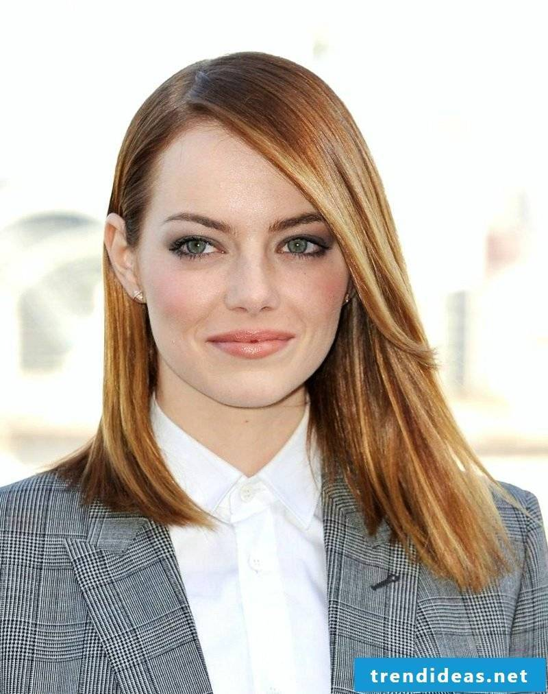 Pony long cut Emma Stone
