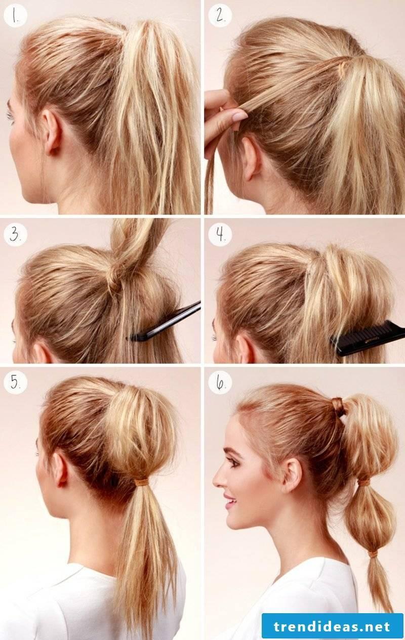 Long hairstyles 2016 Ponytail toupiert