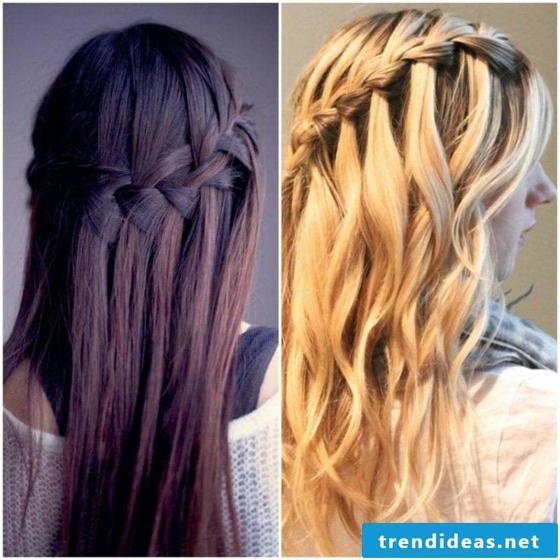 Hairstyles for women long hair waterfall braid