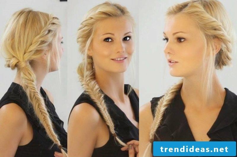 Braided hairstyles long hair herringbone braid
