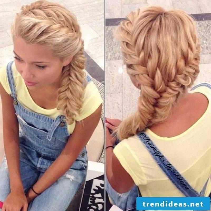 Long hairstyles herringbone braid