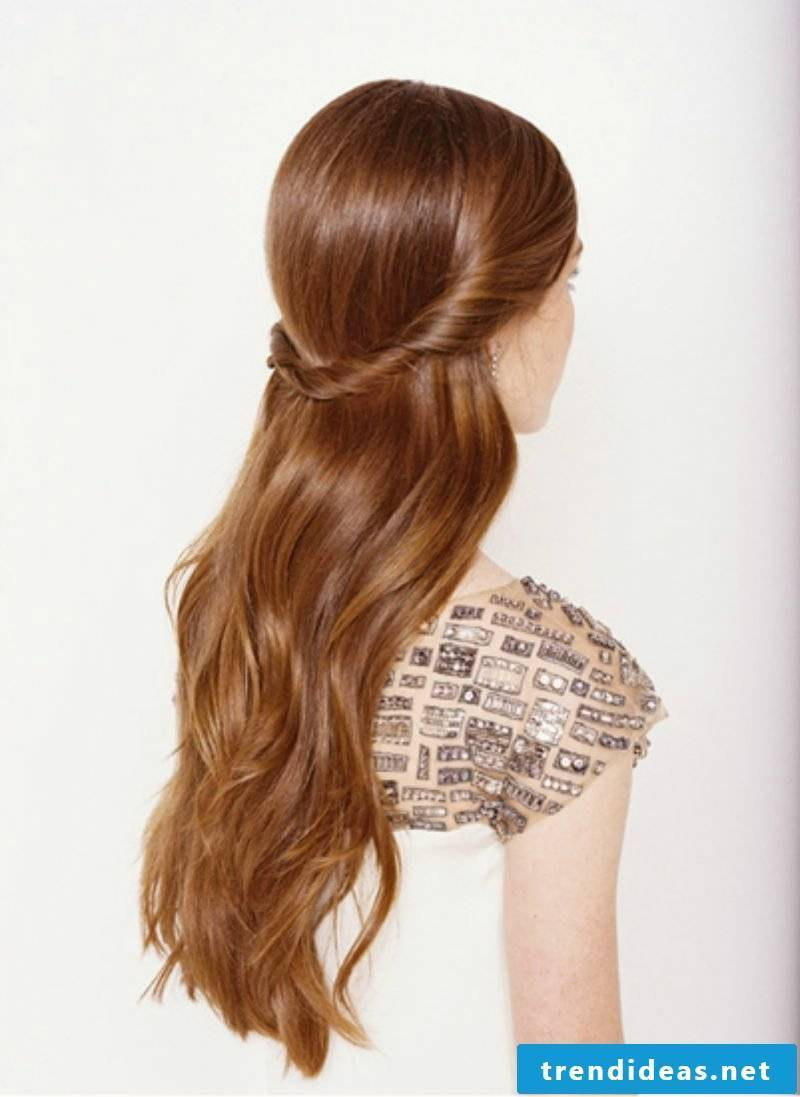 Long Hairstyles Twisted Crown