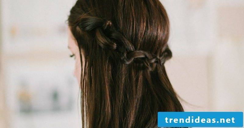 Hairstyles open hair twisted crown