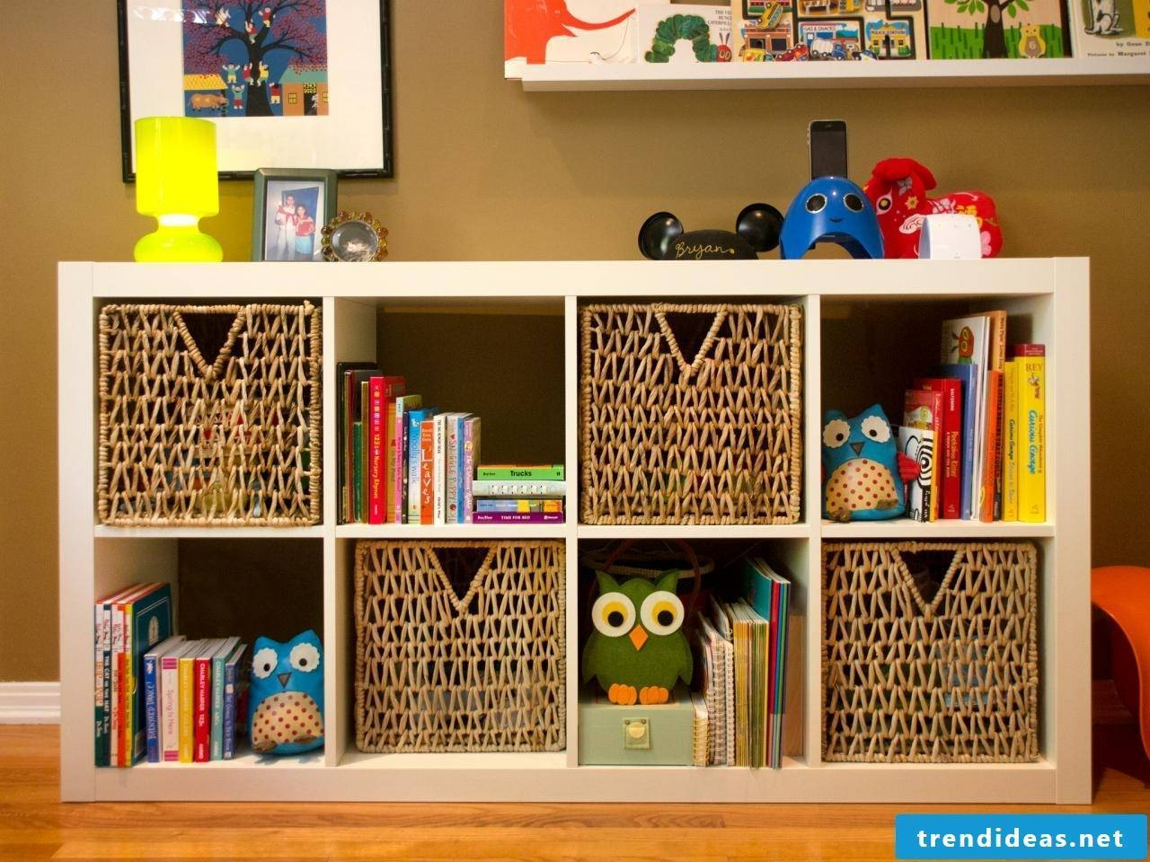 Creating space is a must in the youth and children's rooms