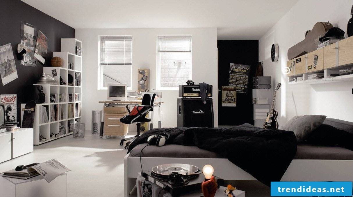 Youth room in rock style