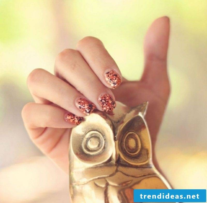modern nail art design autumn