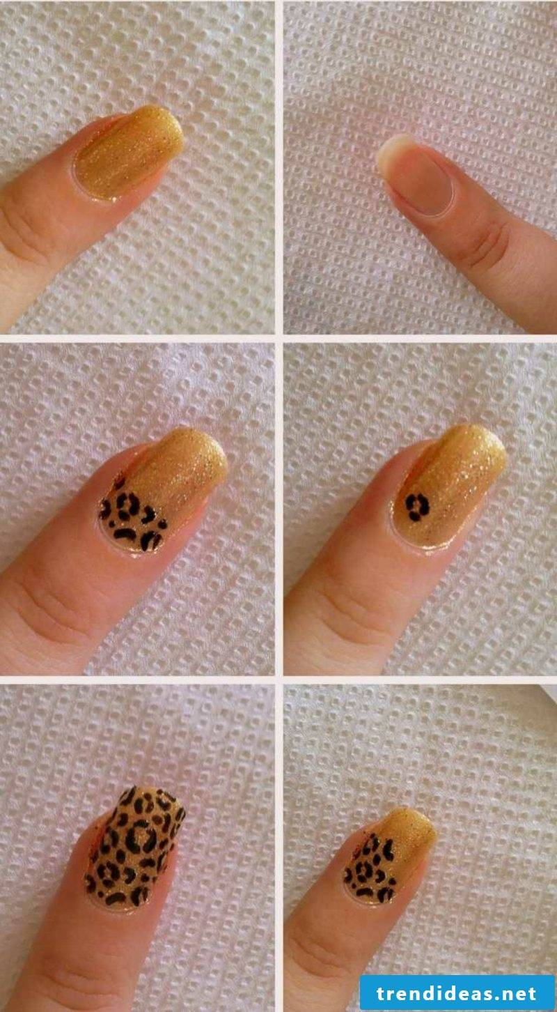 DIY leopard pattern