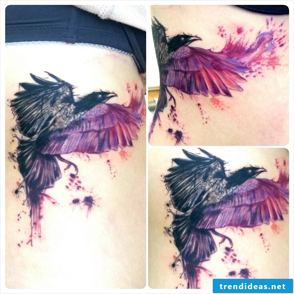 Raven Tattoo - one of the Ravens Odins