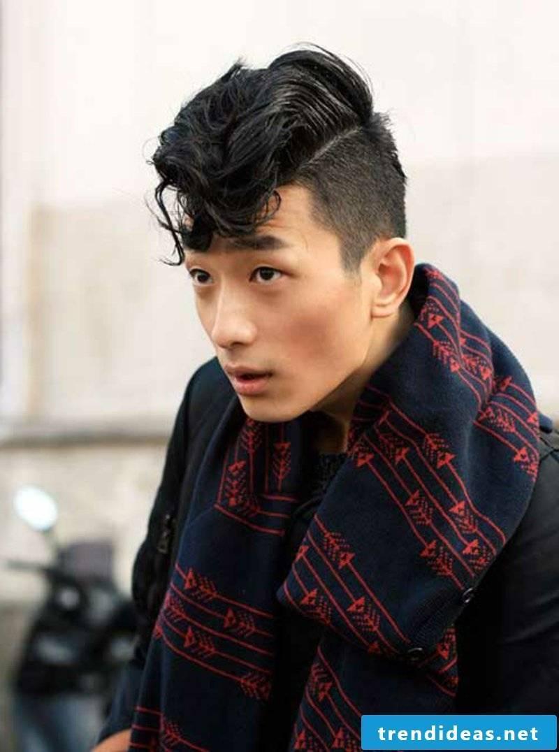rockabilly-haircut-men-Asian Rockabilly Hair with Bangs for Men