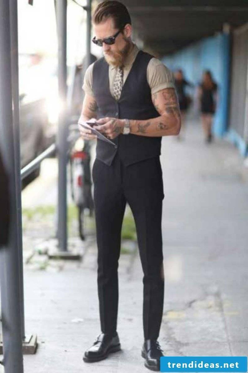 Rockabilly Hairstyles Men's Rockabilly Cool Light Brown Hair for Men