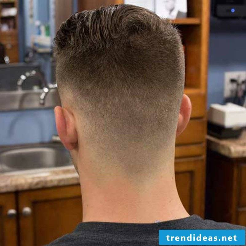 Rockabilly Hairstyles Men's Short Rockabilly Faded Hairstyle Back